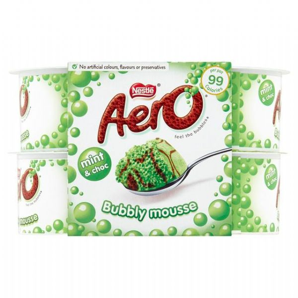Aero Peppermint Mousse 4x58g
